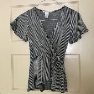 Caution to the Wind Peplum top